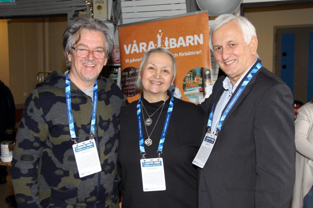Fahrudin Kučuk, Samira Ajanović och Branko Tomić i Göteborg 2018. på den 1:a Bosnien och Hercegovinas bokmässa i Sverige (Foto: Haris Tucaković)