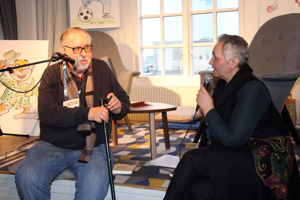 Midhat Medić i Samira Ajanović 2019. u Göteborgu na 2. Sajmu bosanskohercegovačke knjige u Švedskoj