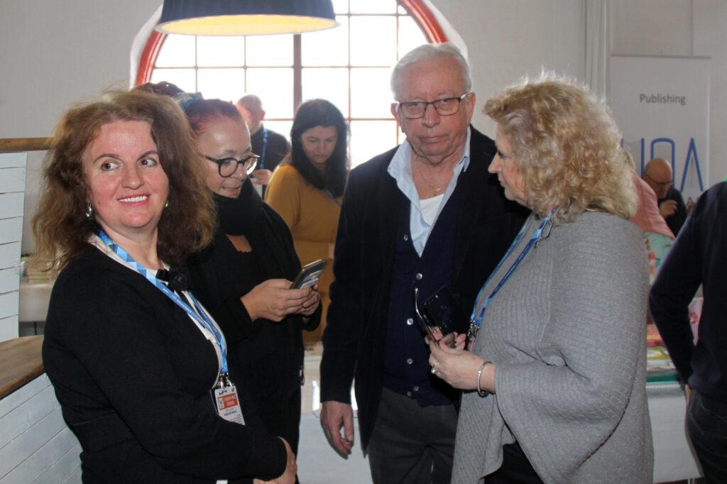 Vasvija Dedić-Bačevac, Amra Kadrić Šijan, Uzeir Bukvić i Aida Zaćiragić na 2. Sajmu bh. knjige u Švedskoj (Göteborg, 2019)